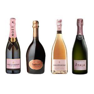CHAMPAGNE Lot Découverte de 4 Champagnes Rosé 75cL