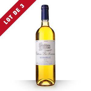 VIN BLANC 3X Château la Fonrousse 2014 Blanc 75cl AOC Monbaz
