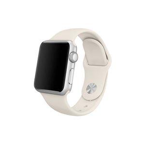 BRACELET MONTRE CONNEC. Bracelet Apple Watch 42mm Blanc Antique S/M et M/L
