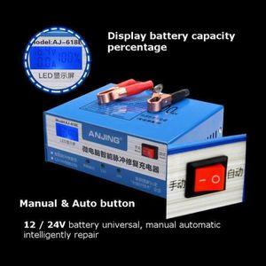 CHARGEUR DE BATTERIE 12V-24V 100Ah Chargeur de Batterie Automatique Au