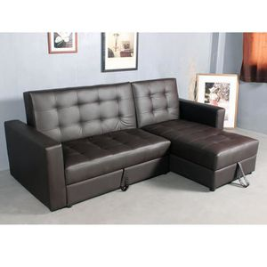 Angle Canape Convertible Achat Cuir D Vente Pas Simili Cher Nnm08wv