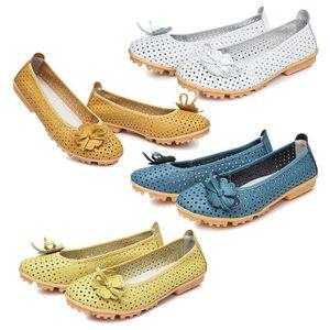 Napoulen®Femmes Flats chaussures de mode mocassins Quatre saisons populaire Vert-XYM70901904GN aqOulk