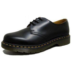 DERBY Noir Doc Martens Dr Brochage 1461 Shoe YOIX6 Taill