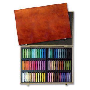 PASTELS - CRAIE D'ART Coffret en bois de Pastels secs Carrés Mungyo 72 p