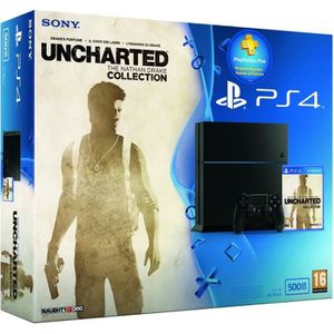 CONSOLE PS4 Console PlayStation 4, C Chassis, 500 Go + Unchart