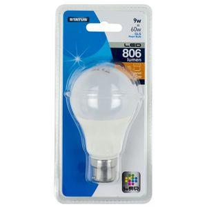 AMPOULE - LED STATUS LED GLS ampoule à baïonnette - 9W - 806 Lum