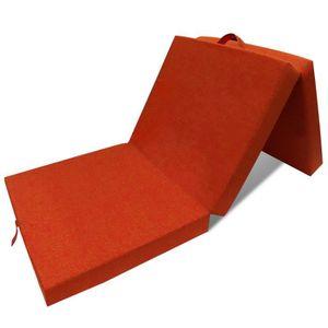 MATELAS Matelas en mousse pliable orange 190 x 70 x 9 cm