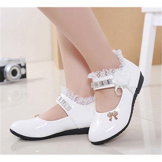 9f006f3421105 2018 printemps et en automne nouvelles grandes chaussures pour enfants  filles bébé chaussures enfants princesse chaussures d'é tu Blanc Blanc -  Achat ...