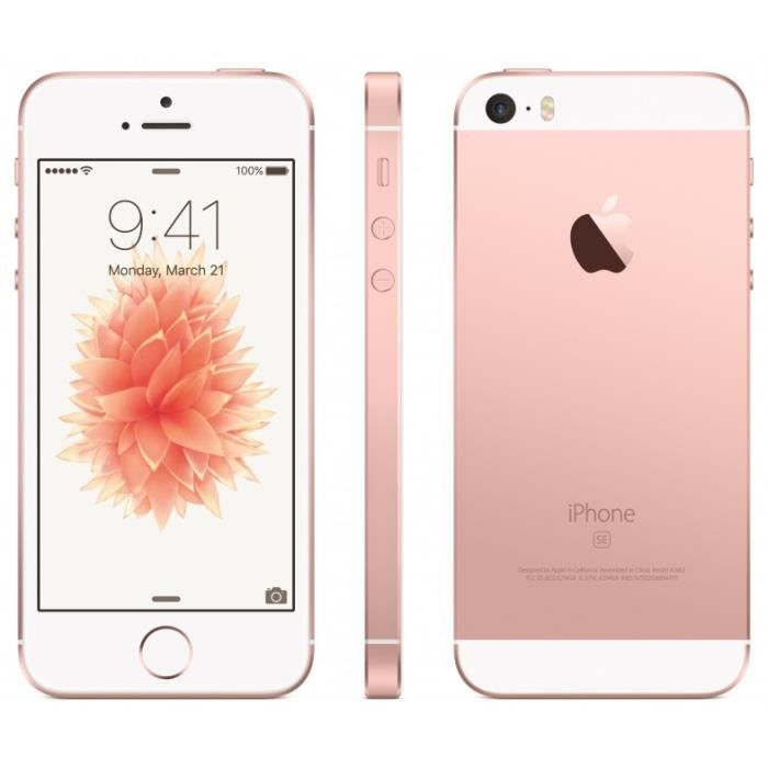 apple iphone se 64gb rose gold achat smartphone pas cher avis et meilleur prix black friday. Black Bedroom Furniture Sets. Home Design Ideas