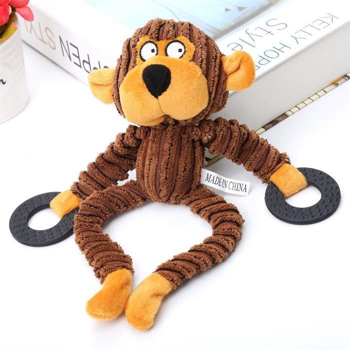 Puppy Chew Siffleur Jouet Chien Couine En Peluche Corduroy Son Jouets Forme Animale Basilesmile691