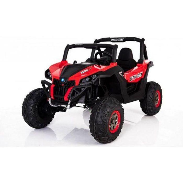 voiture lectrique 2 places 24v buggy utv mx rouge pack luxe achat vente voiture enfant. Black Bedroom Furniture Sets. Home Design Ideas