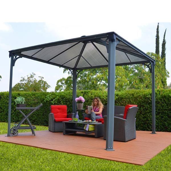 tonnelle couv 39 terrasse 3x3m achat vente tonnelle. Black Bedroom Furniture Sets. Home Design Ideas
