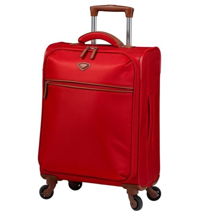 Valise cabine souple Jump Nice 55 cm - 2 roues Coquelicot rouge