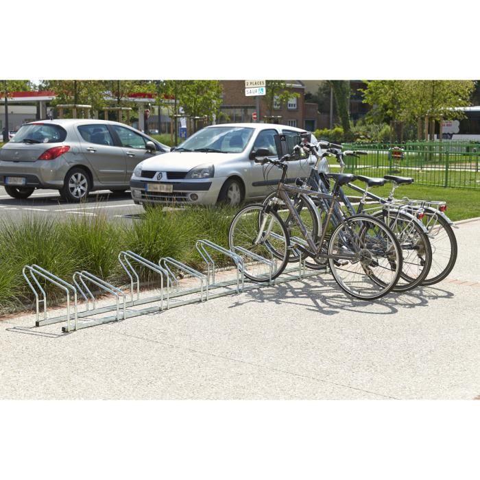 RATELIER Râtelier sur 2 niveaux cote à cote pour 8 vélos Mo