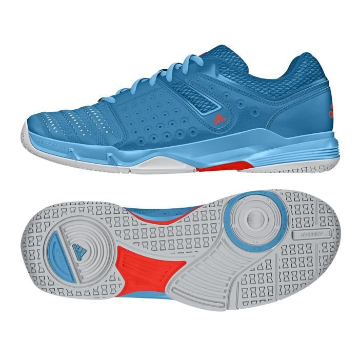 competitive price 9a27a 33768 Chaussures Handball Court Stabil 12 Turquoise Rouge