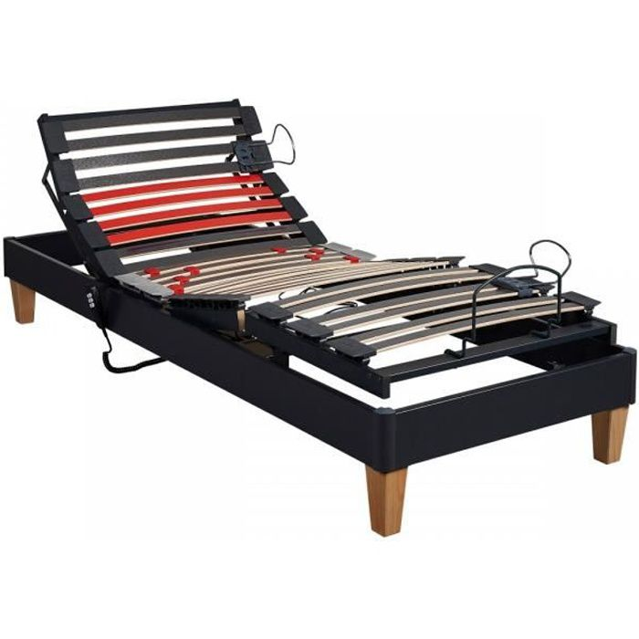 Sommier Electrique Someo Tpr 30 Anthracite 90x190 Achat Vente
