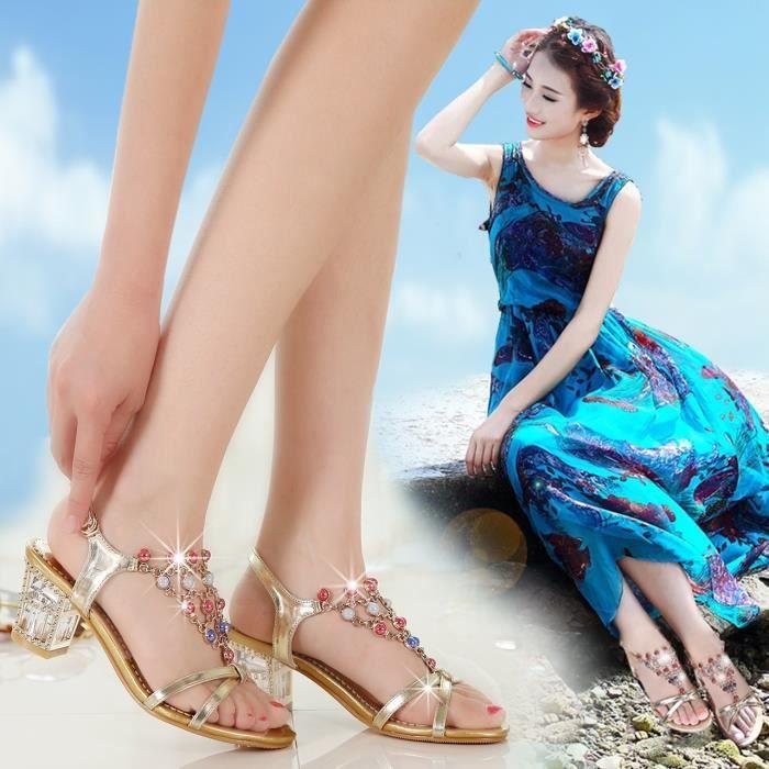 Nouveau véritables chaussures en cuir sandales femme mariée pompes de luxe bout ouvert talons chunky argent transparent sandales de IQ9ge6BuhW