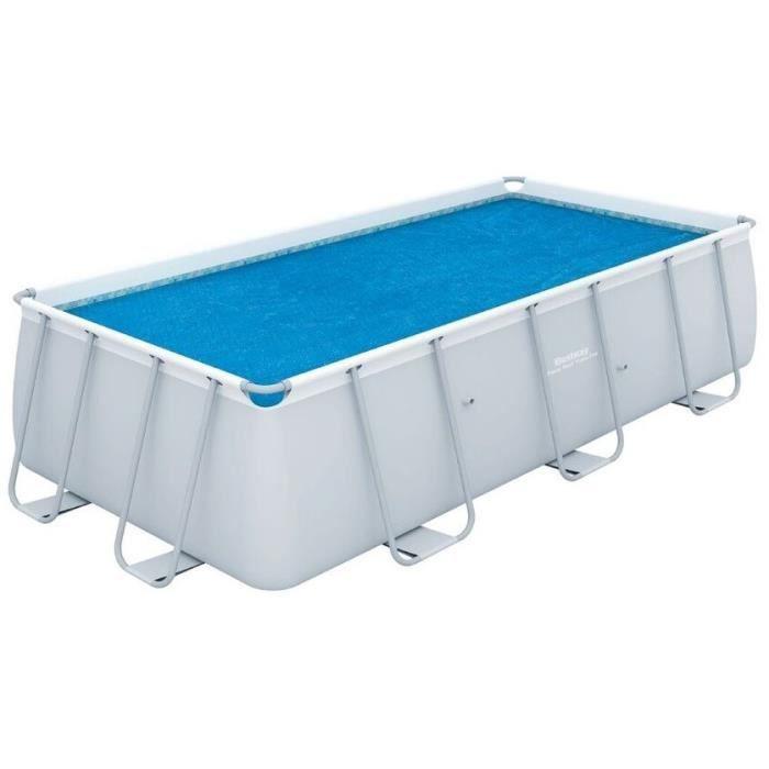 BESTWAY Bâche solaire pour Power Steel Frame Pools 488x244x122cm - 457x217cm
