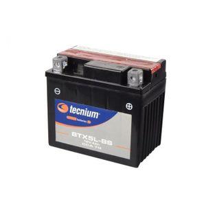 BATTERIE VÉHICULE Batterie TECNIUM BTX5L-BS sans entretien livrée av