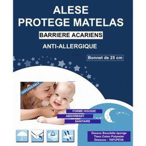 116516fd8acc PROTECTION MATELAS Alése Enfant Lit Anti-Acariens Anti-Allergique (60