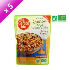 PLAT LÉGUMES - FÉCULENT CEREAL BIO Quinoa cuisiné soja, tomates et olives