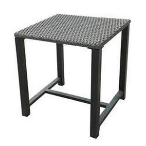 TABLE BASSE JARDIN   table basse aluminium et resine tréssée anthracit