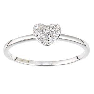BAGUE - ANNEAU Revoni - Bague en or blanc 9 carats et diamant, mo