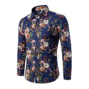 chemise homme manche longue a fleur achat vente pas cher. Black Bedroom Furniture Sets. Home Design Ideas