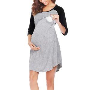66c6bab35fd2b PYJAMA Robe d'allaitement de la maternité des femmes chem