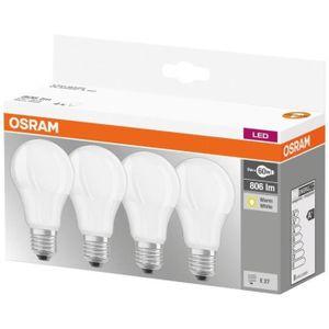 AMPOULE - LED OSRAM Lot de 4 Ampoules LED E27 standard dépolie 9