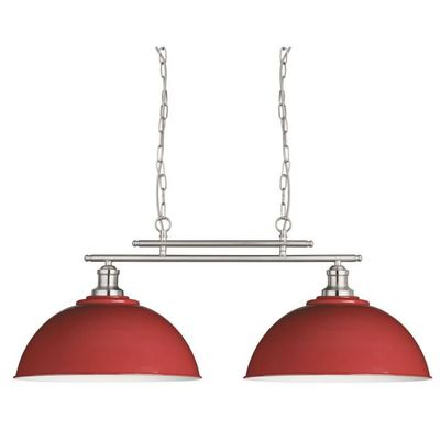 Fusion Double Lampe Plafond Bar Rouge Searchlight 0932 2re Achat
