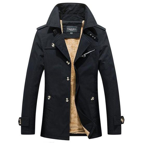 1158a150adb10 Marque Vêtement De Uni Luxe Taille Coton En Revers Grande Baggy Vêtements  Masculin Homme Veste Hommes 4qnSxwCOAn