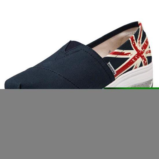 Chaussures Femme Printemps Été à fond épaisé  Chaussure BTYS-XZ064Bleu36 Bleu Bleu - Achat / Vente escarpin