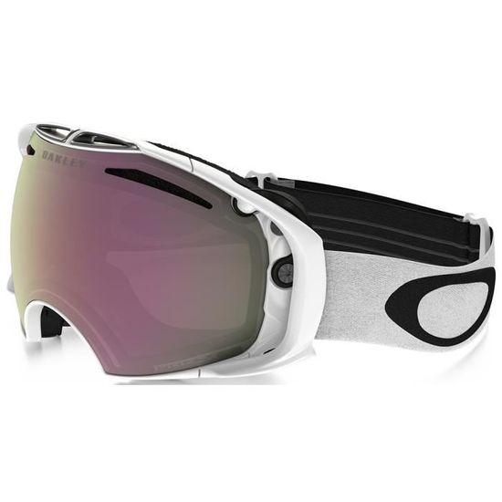 Masque de ski Oakley Prizm Airbrake Blanc Brillant 2 ecrans - Prix pas cher  - Cdiscount 2d0477e50de2