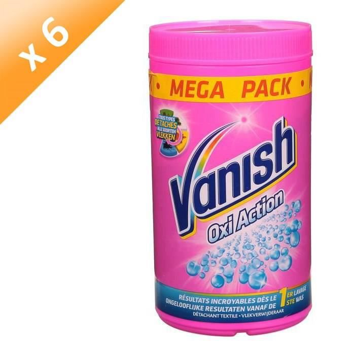VANISH Détachant Oxi Action en poudre - Lot de 6