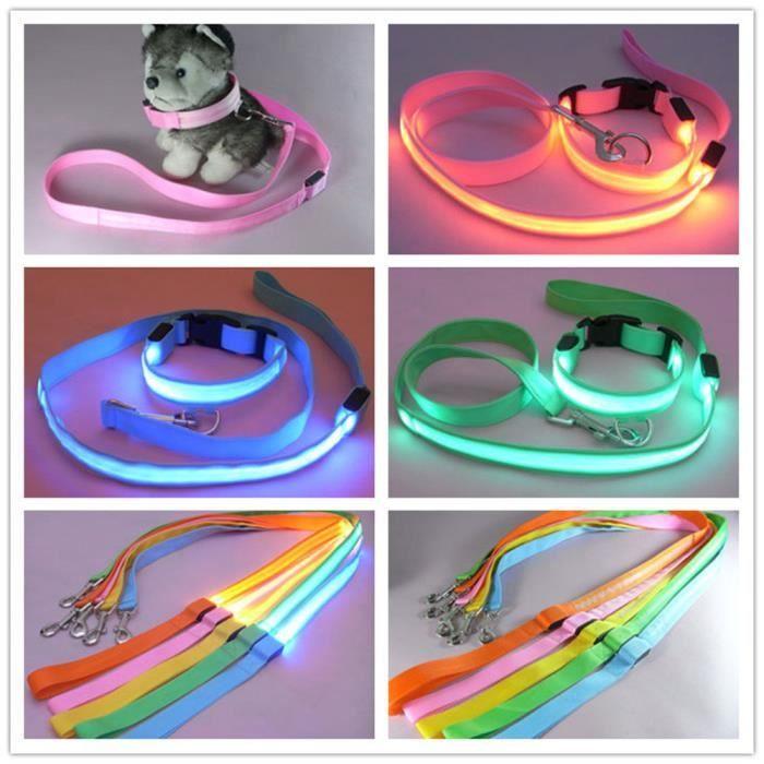 Hot Cakes Pet Led Glow Corde Tirage Lumière Chien Collier De Pour Xkl70316262gnm_109