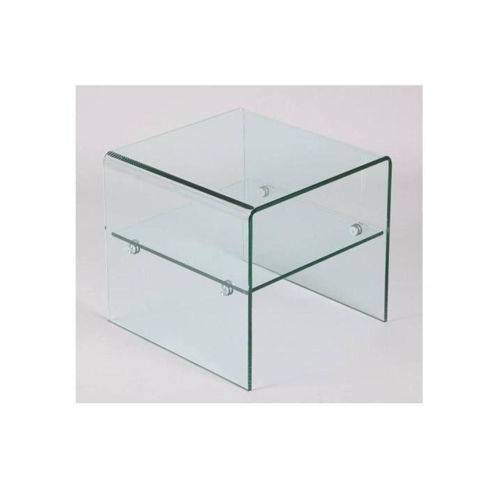 bout de canap hestia en verre achat vente bout de canap bout de canap hestia en ve. Black Bedroom Furniture Sets. Home Design Ideas