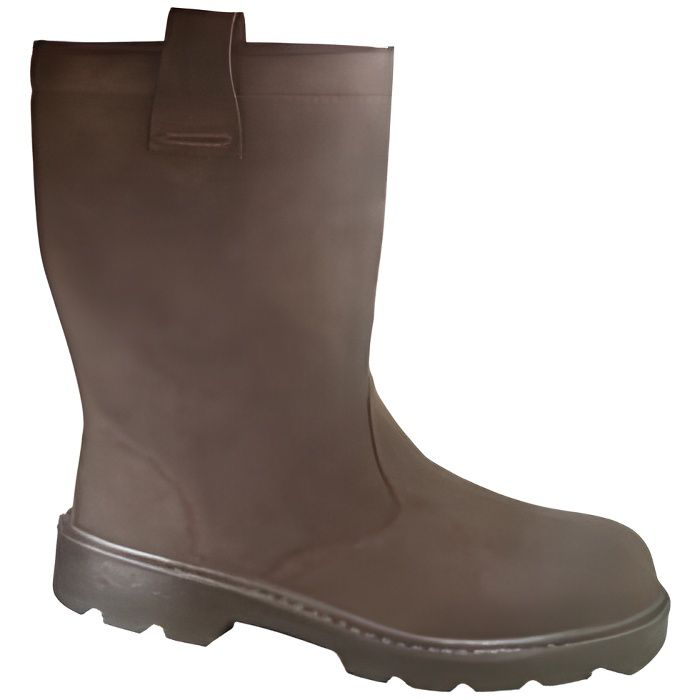 Bottes Fourrees KAMA S3 Taille 45 CUIR MARRON -…