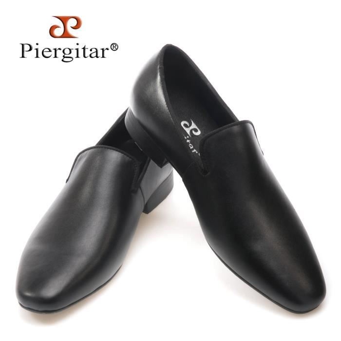 2017 Nouvelle arrivée à la main Hommes Véritable Chaussures en cuir style britannique de mariée bal et Mocassins Flats Banquet