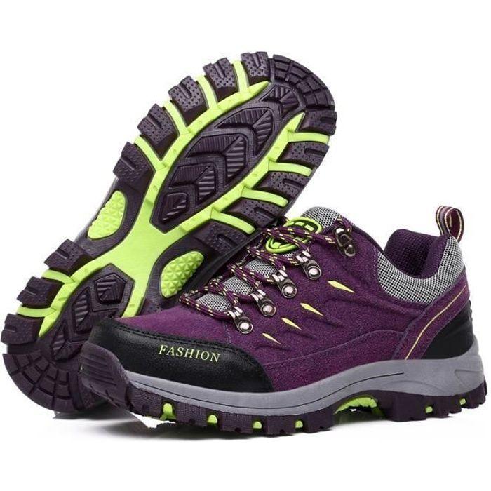 Boots femme violet