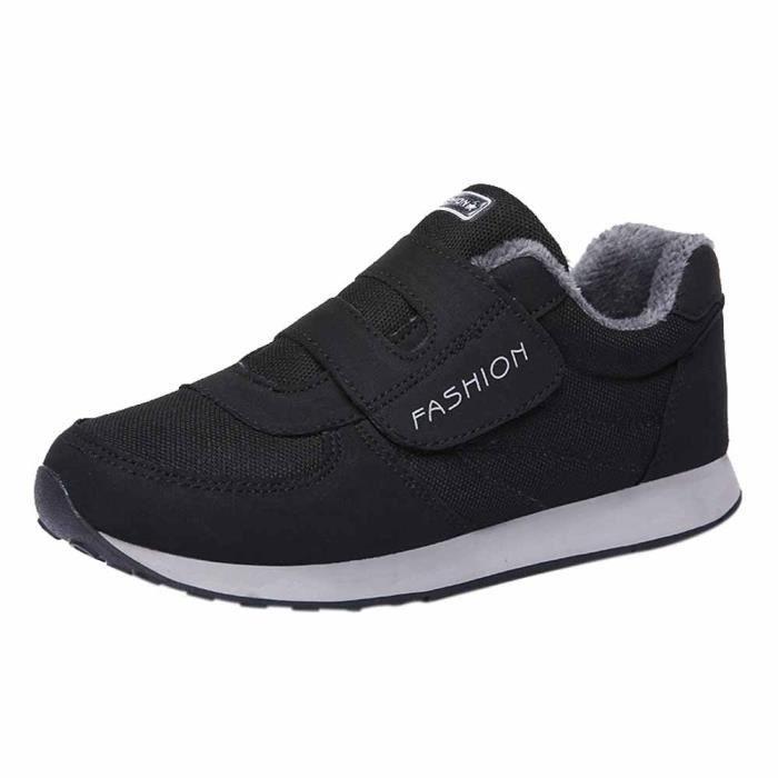 Femmes Velours Plus down5743 Chaussures Plates Course Coton Âge De Moyen Chaud nv7xnXqE