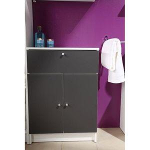 Rangement salle de bain achat vente rangement salle de for Meuble bas salle de bain gris
