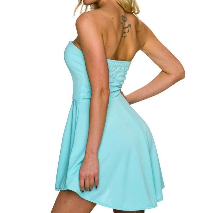 c48eb95ba8519 robe bustier courte verte bandeau dos nu femme - marriage2go.com