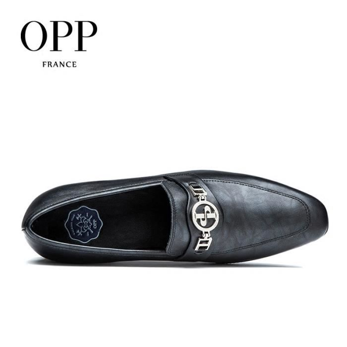 OPP Wingtip mocassin Perforated Toe rétro - PrintingZ0907-7argent gris45