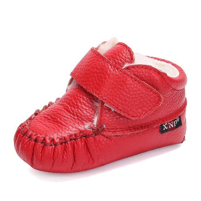 Bottes bébé PU Cuir De Neige Hiver Garçons Filles Casual Mode Enfants Chaussures BJXG-XZ157Rouge16