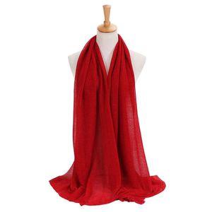 ECHARPE - FOULARD Mode femmes solide couleur longue écharpe souple e