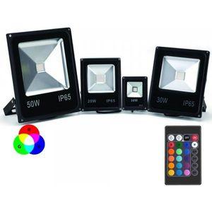 projecteur led multicolore achat vente projecteur led multicolore pas cher cdiscount. Black Bedroom Furniture Sets. Home Design Ideas