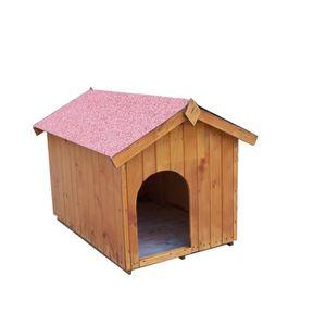 NICHE Niche à chien toit bitumé bipente 0,96m² - Pour pe
