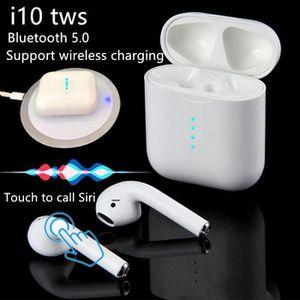 CASQUE - ÉCOUTEURS Nouveau i10 TWS Bluetooth Sports sans fil tactile