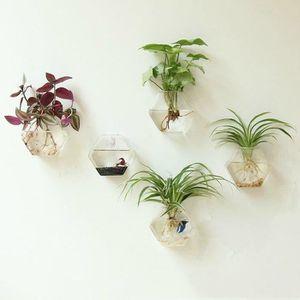 VASE - SOLIFLORE vase en verre pendant fleur planteur 12*15*5cm
